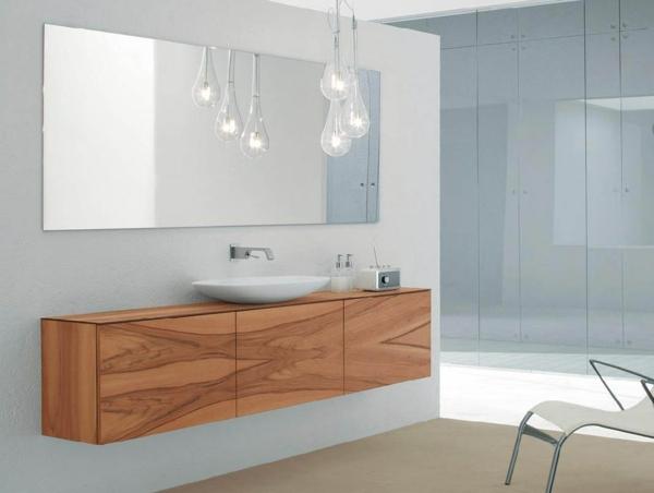 La d co de salle de bain en bois 107 photos for Meuble salle de bain contemporain