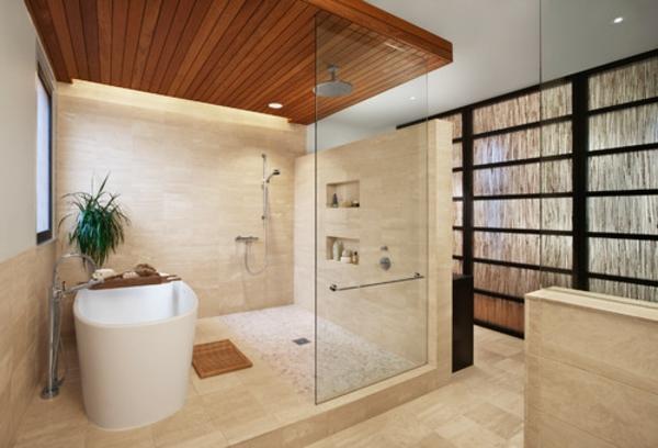 La d co de salle de bain en bois 107 photos - Plafond bois salle de bain ...