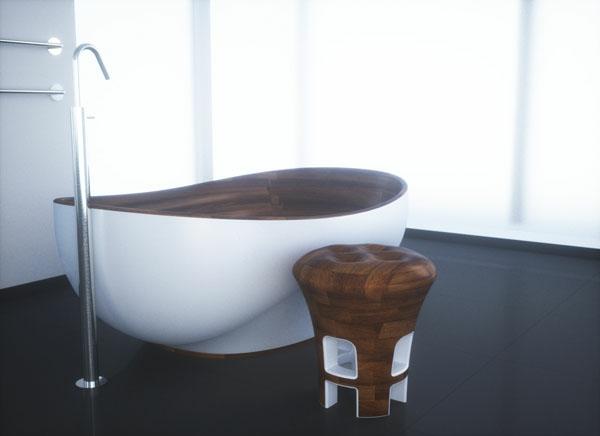 cool-baignoire-et-chaise-en-bois