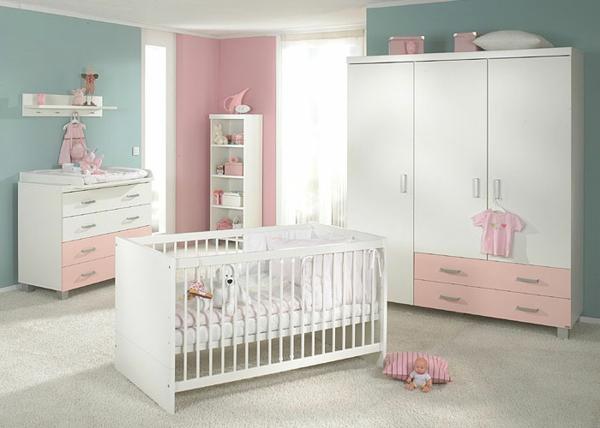 cool-design-du-lit-de-bebe-en-blanc-garde-robe-blanc-et-jolie-ameublement-en-banc-et-rose