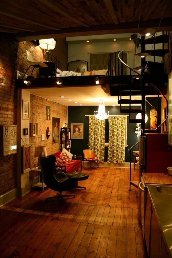 cool-design-en-bois-et-un-studio-à-deux-étage