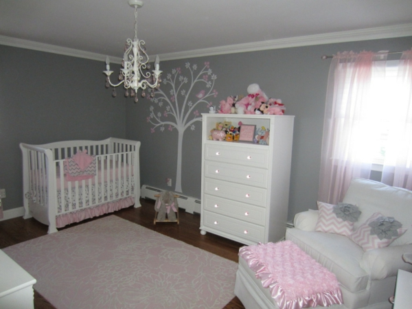 Decoration chambre bebe fille rose et gris for Deco murale chambre bebe fille