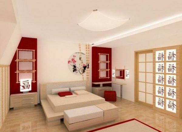 décoration-asiatique-chambre-à-coucher-minimaliste