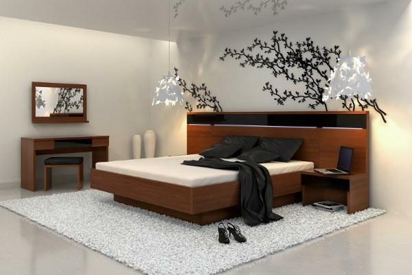décoration-asiatique-chambre-à-coucher-ultramoderne-à-thème-asiatique