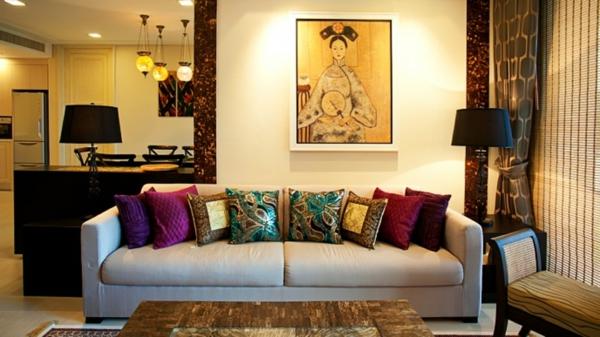 décoration-asiatique-déco-murale-et-coussins-décoratifs