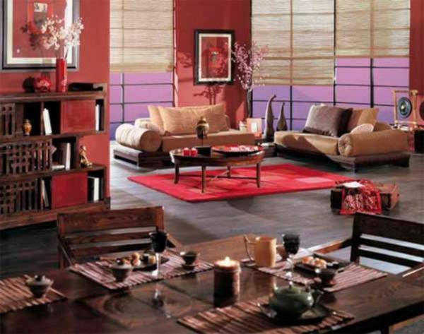 décoration-asiatique-intérieur-rouge