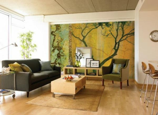 décoration-asiatique-papier-peint-vert