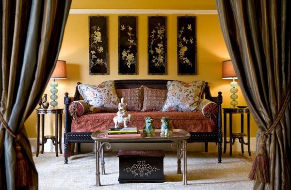 décoration-asiatique-salle-de-séjour-un-style-vintage