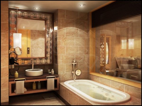 La d co de salle de bain en bois 107 photos - Decoration salle de bain rustique ...