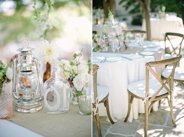 déco vintage pour mariage  deco mariage champetre vintage gris et rose resized