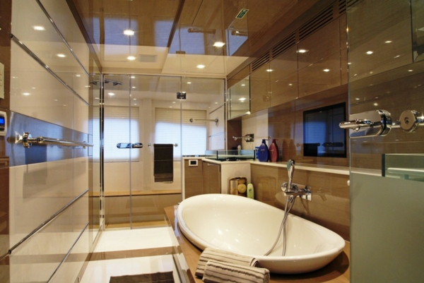 decorations-bathroom-interior-glamorous-glazed-concept-surround-minimalist-bathroom-design-with-luxurious-white-bathtub-and-brown-color-scheme-beauteous-bathroom-design-ideas-collection-in-