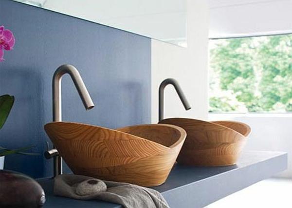 La d co de salle de bain en bois 107 photos - Lavabo classique salle bain ...