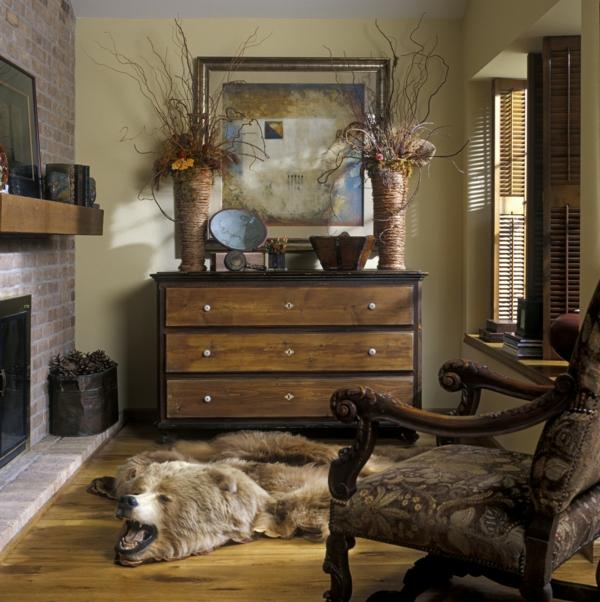 fantastique-armoire-et-chaise--avec-décoratonrustique-pour-le-salon