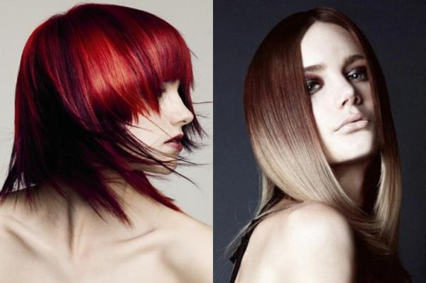idées-coiffures-pour-cheveux-mi longs-cheveux-lis-couleurs-glamour