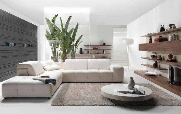 intérieur-de-la-maison-contemporaine-avec-un-canapé-bois