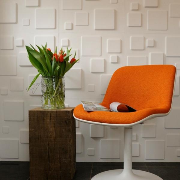 intérieur-de-la-maison-contemporaine-avec-un-chaise-et-un-mur-avec-papier-peinte-relief
