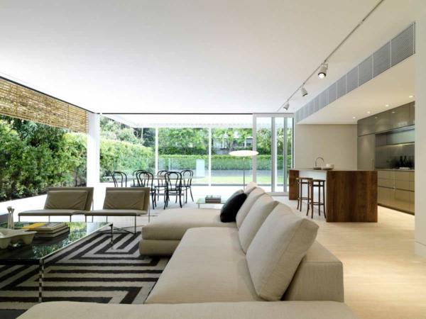 L intérieur de la maison contemporaine salon design