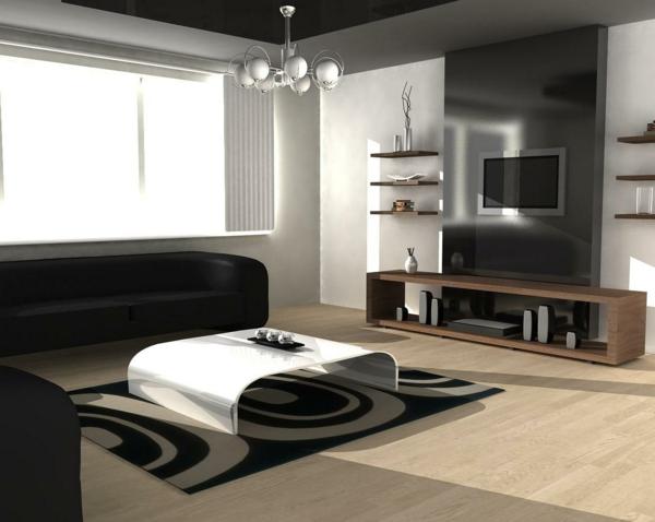 L\' intérieur de la maison contemporaine -salon design - Archzine.fr