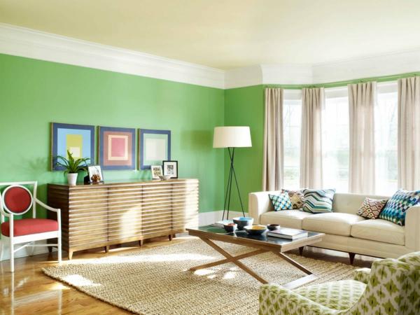 intérieur-de-la-maison-contemporaine-et-mur-vert-et-style-vintage
