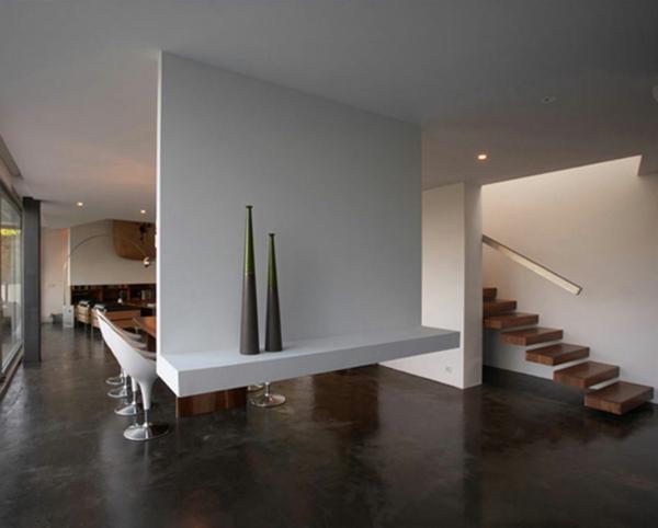 L 39 int rieur de la maison contemporaine salon design for Escalier maison contemporaine