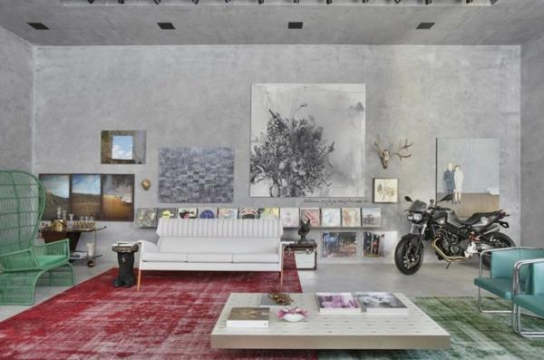 intérieur-de-la-maison-contemporaine-unique-en-style-vintage