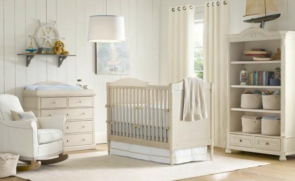 ivoire-lit-de-bébé-moderne-en-blanc
