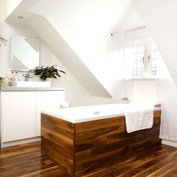 Banc bois salle de bain for Banc de salle de bain