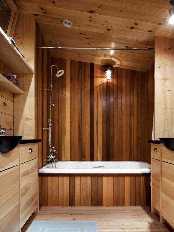 La d co de salle de bain en bois 107 photos for Jolie salle de bain