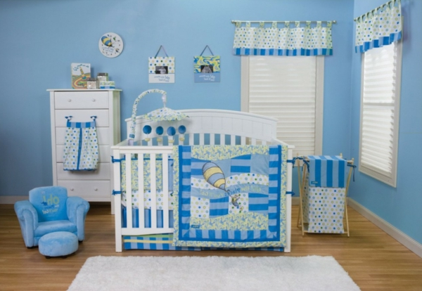 Le design de la chambre de b b modern en blanc for Chambre de bebe garcon