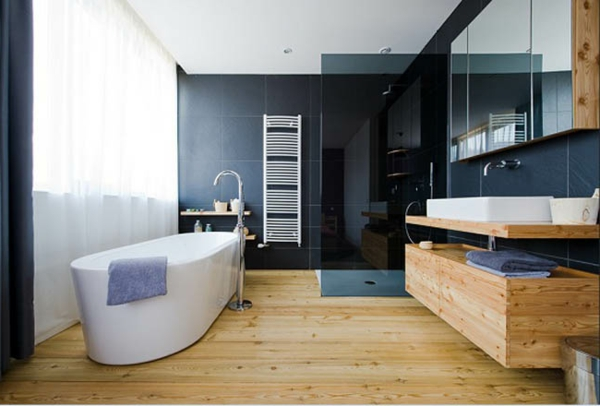 la d co de salle de bain en bois 107 photos. Black Bedroom Furniture Sets. Home Design Ideas