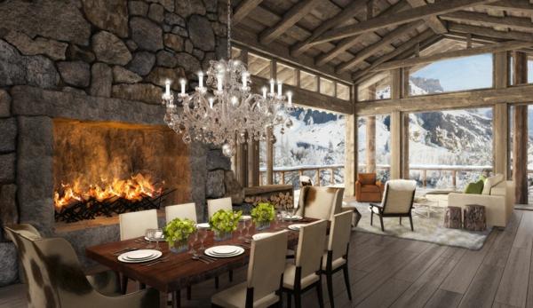 jolie-hotel-décoration-pour-la-montagne-et-comment-faire-le-design-cool