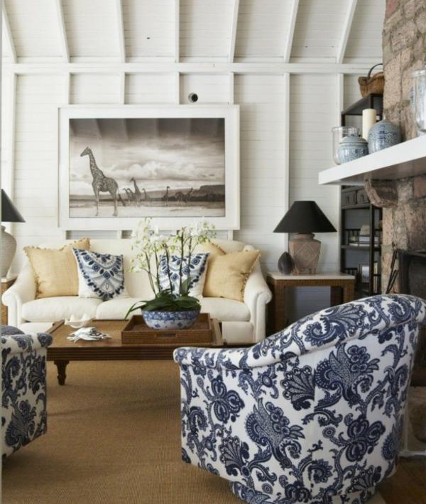 jolie-salon-et-décration-pour-votre-chambre-et-des-fauteuils-avec-des-motifs-florals