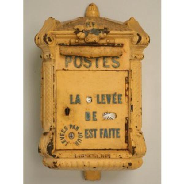 la-boite-postal-en-jaune-décoration-vintage