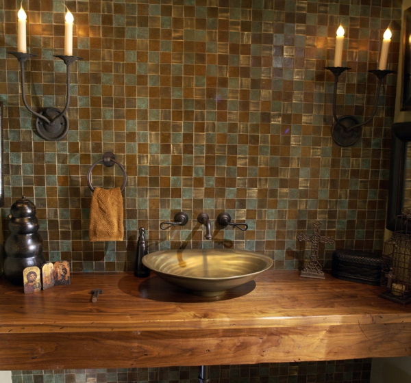 La d co de salle de bain en bois 107 photos - Meuble de salle de bain rustique ...