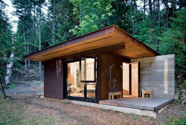 maisons-modulaires-douche-extérieure