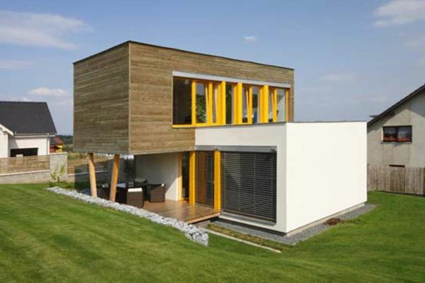 maisons-modulaires-encadrements-des-fenêtres-jaunes
