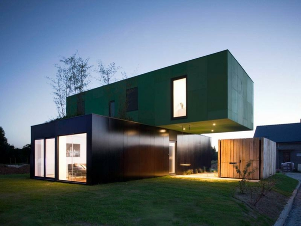 Les maisons modulaires les habitations modernes en pleine nature - Maison bloc modulaire ...