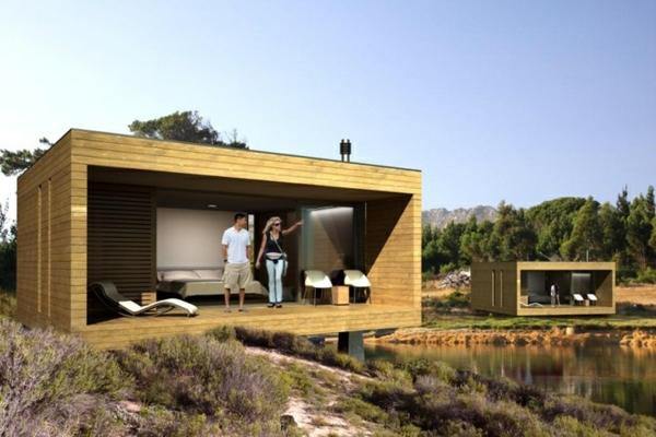 maisons-modulaires-près-d'un-lac