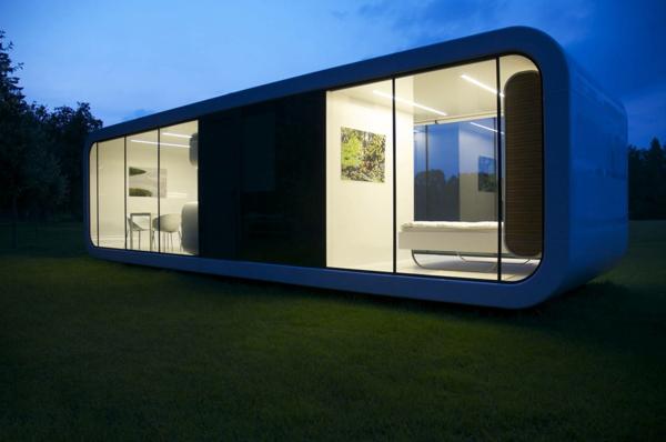 Les maisons modulaires les habitations modernes en pleine nature Petite maison minimaliste