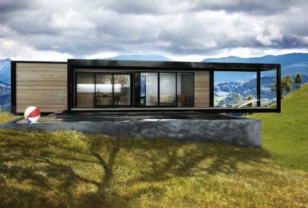 maisons-modulaires-une-maison-modulaire-sur-une-plateforme