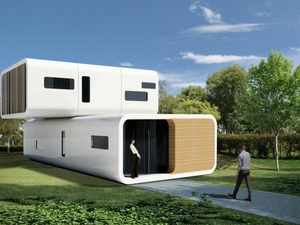 maisons-modulaires-unités-blanches