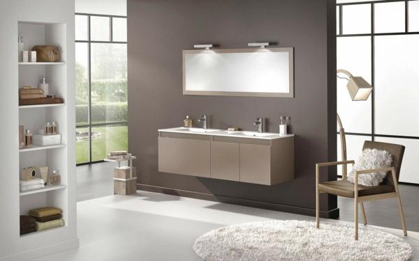 Salle de bain et d co minimaliste 117 photos uniques - Meuble de salle de bain turquoise ...