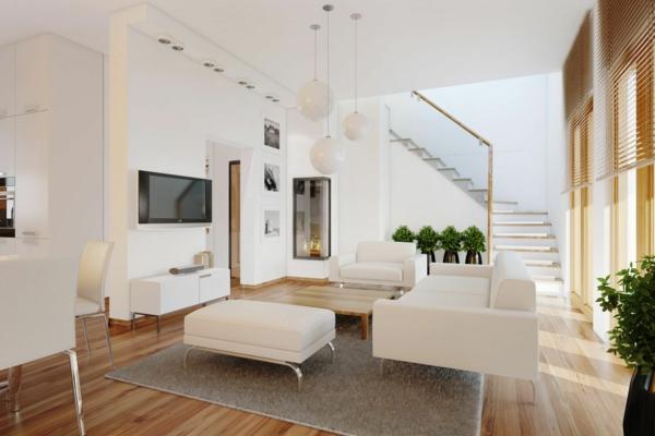 moderne-design-canapé-en-blanc-escalier-