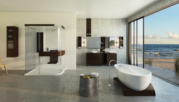 Salle de bain et d co minimaliste 117 photos uniques - Idees pour rendre une petite salle de bains beaucoup plus grande ...