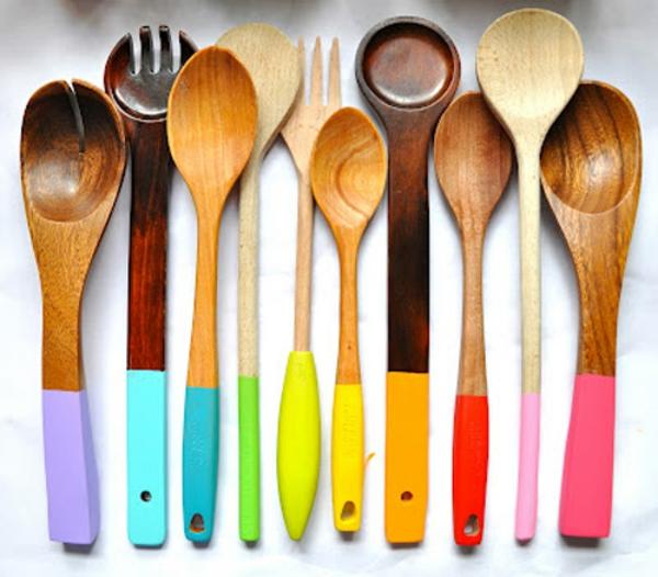 Modele De Cuisine Moderne Lapeyre : originaldécorationspourdesustensilesenboisavecdescouleurset