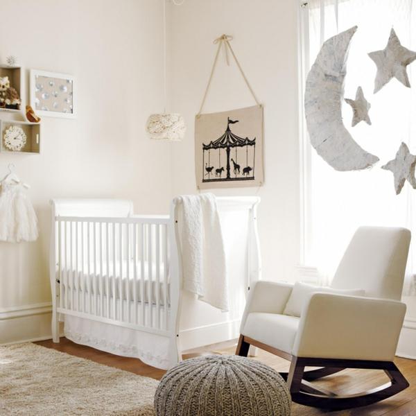 le design de la chambre de b b modern en blanc. Black Bedroom Furniture Sets. Home Design Ideas