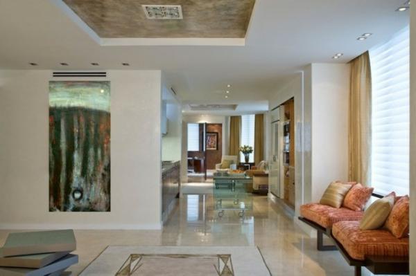 La peinture abstraite dans l 39 int rieur contemporain - Peinture interieur appartement ...