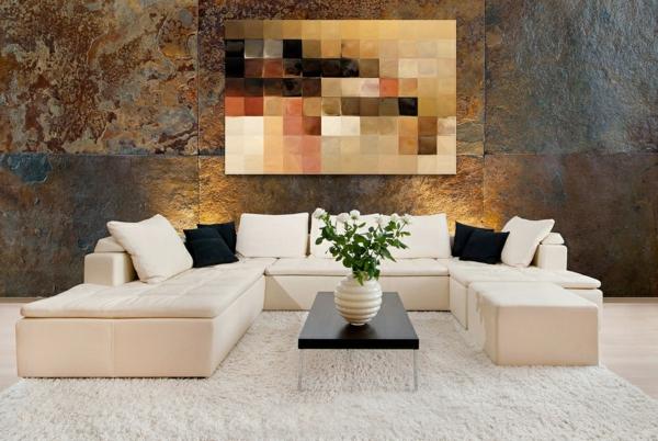 la peinture abstraite dans l 39 int rieur contemporain. Black Bedroom Furniture Sets. Home Design Ideas