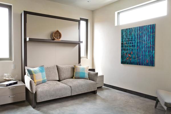 peinture-abstraite-en-bleu-chambre-à-coucher