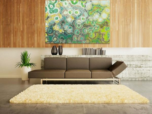 peinture-abstraite-en-vert-et-un-sofa-beige
